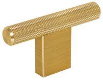 Bouton GRAF forme T aluminium Anodisé doré foncé brossé