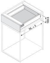 Kit tiroir - coulisses TIP-ON BLUMOTION Hauteur K (115,6 mm)