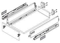 Kit tiroir - coulisses BLUMOTION Hauteur M (83,5 mm)