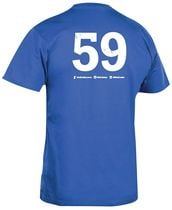 Tee-shirt bleu royal