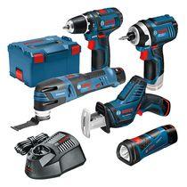Lot 5 outils sans fil 12V 2 Ah