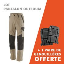 pantalon outsum + 1 paire de genouillères offerte