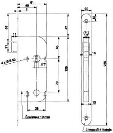Serrure D 12 R EDF - GDF