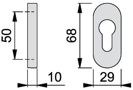Rosace ovale 30PS