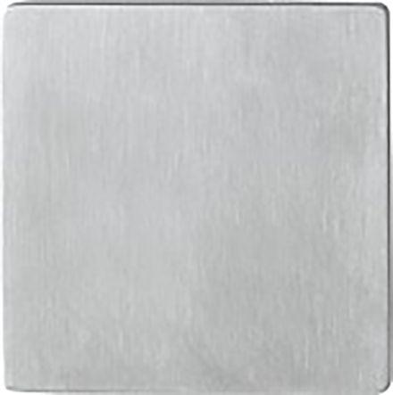 Rosace fine carrée Quick-FitPlus inox mat